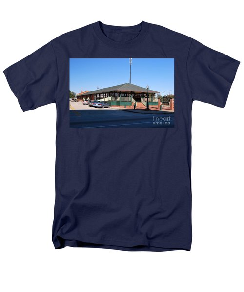 Men's T-Shirt  (Regular Fit) featuring the photograph Arcadia Train Station by Gary Wonning