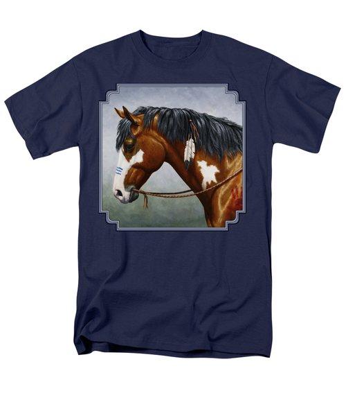 Bay Native American War Horse Men's T-Shirt  (Regular Fit) by Crista Forest