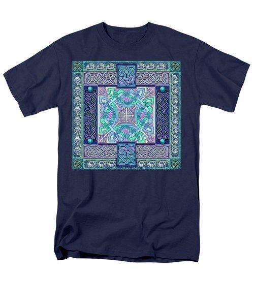 Men's T-Shirt  (Regular Fit) featuring the mixed media Celtic Atlantis Opal by Kristen Fox
