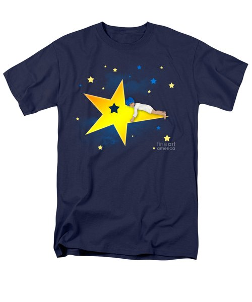 Men's T-Shirt  (Regular Fit) featuring the digital art Star Child by Jutta Maria Pusl