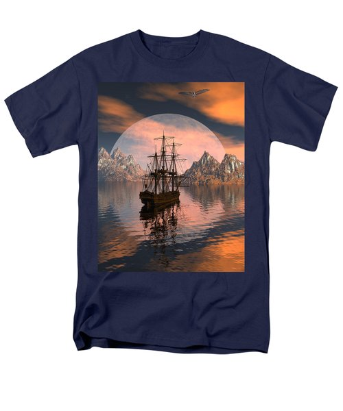Men's T-Shirt  (Regular Fit) featuring the digital art At Anchor by Claude McCoy