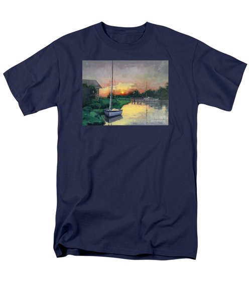Men's T-Shirt  (Regular Fit) featuring the painting At Ease Sold by Nancy Parsons