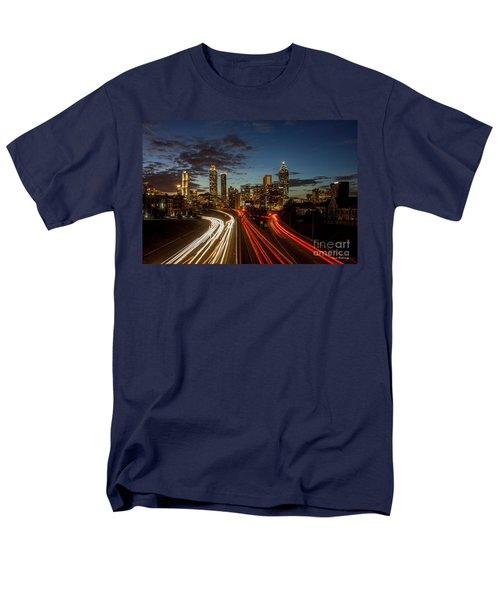 Men's T-Shirt  (Regular Fit) featuring the photograph Atlanta Downtown Infusion Atlanta Sunset Cityscapes Art by Reid Callaway