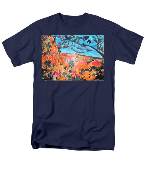 Men's T-Shirt  (Regular Fit) featuring the painting Autumn Flames by Esther Newman-Cohen