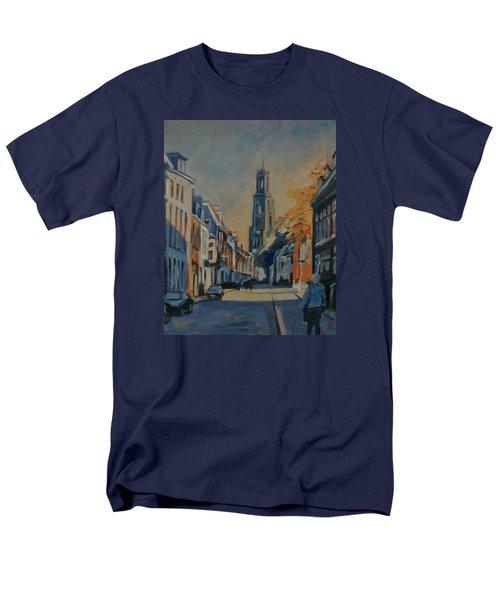 Autumn In The Lange Nieuwstraat Utrecht Men's T-Shirt  (Regular Fit)