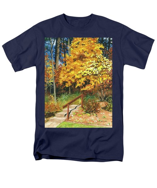Men's T-Shirt  (Regular Fit) featuring the painting Autumn Invitation by Barbara Jewell