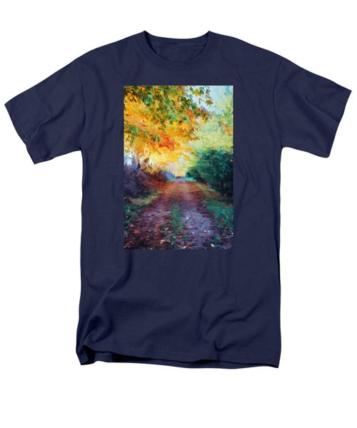 Men's T-Shirt  (Regular Fit) featuring the photograph Autumn Road by Diane Alexander