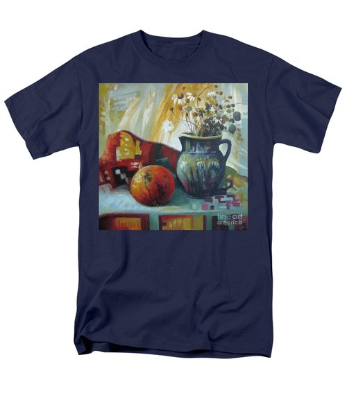 Men's T-Shirt  (Regular Fit) featuring the painting Autumn Story by Elena Oleniuc