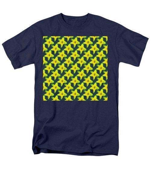 Background Choice Daffodils Men's T-Shirt  (Regular Fit) by Barbara Moignard
