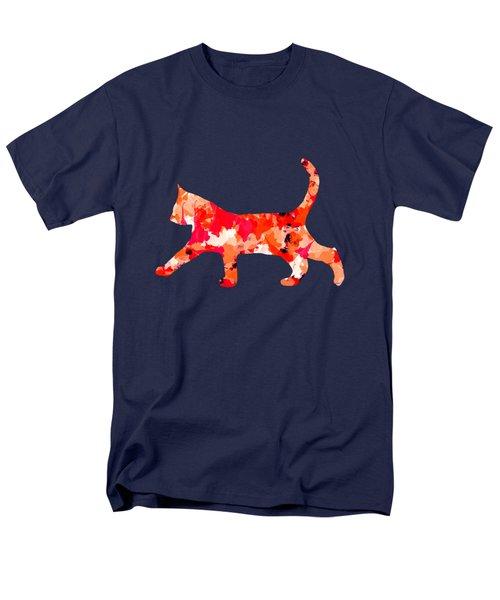 Background Colour Choice Cat Men's T-Shirt  (Regular Fit) by Barbara Moignard
