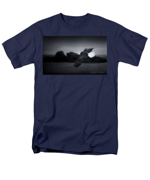 Men's T-Shirt  (Regular Fit) featuring the photograph Bald Eagle In Flight by John A Rodriguez