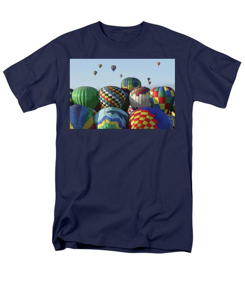 Men's T-Shirt  (Regular Fit) featuring the photograph Balloon Traffic Jam by Marie Leslie