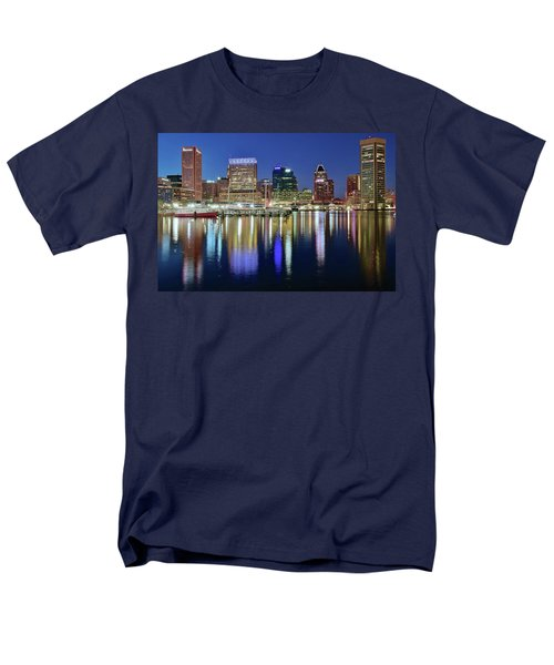 Baltimore Blue Hour Men's T-Shirt  (Regular Fit) by Frozen in Time Fine Art Photography