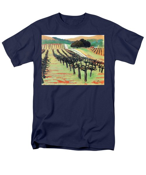Men's T-Shirt  (Regular Fit) featuring the painting Between Crops by Gary Coleman