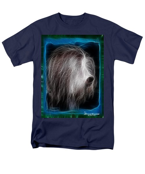 Men's T-Shirt  (Regular Fit) featuring the photograph Big Shaggy Dog by EricaMaxine  Price