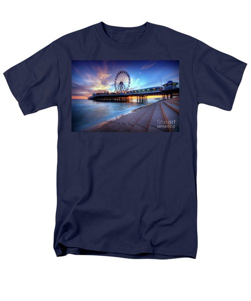 Men's T-Shirt  (Regular Fit) featuring the photograph Blackpool Pier Sunset by Yhun Suarez