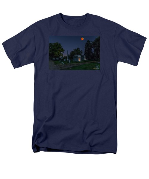 Blood Moon At Fairmount Cemetery Men's T-Shirt  (Regular Fit) by Stephen  Johnson