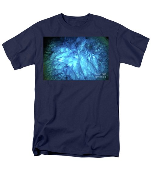 Men's T-Shirt  (Regular Fit) featuring the photograph Blue Agate by Nicholas Burningham