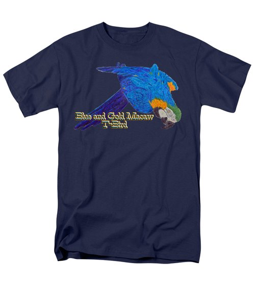 Blue And Gold Macaw Men's T-Shirt  (Regular Fit) by Zazu's House Parrot Sanctuary