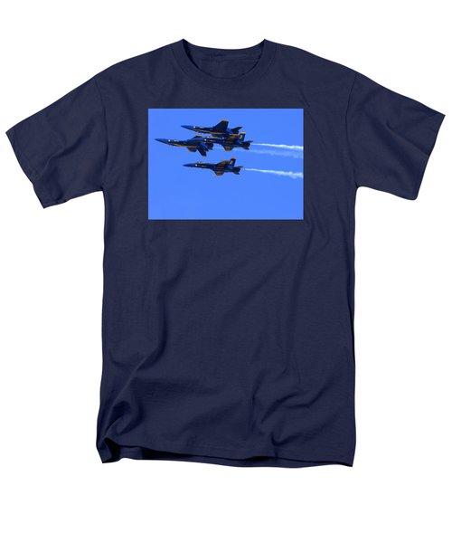 Blue Angels Perform Over San Francisco Bay Men's T-Shirt  (Regular Fit)