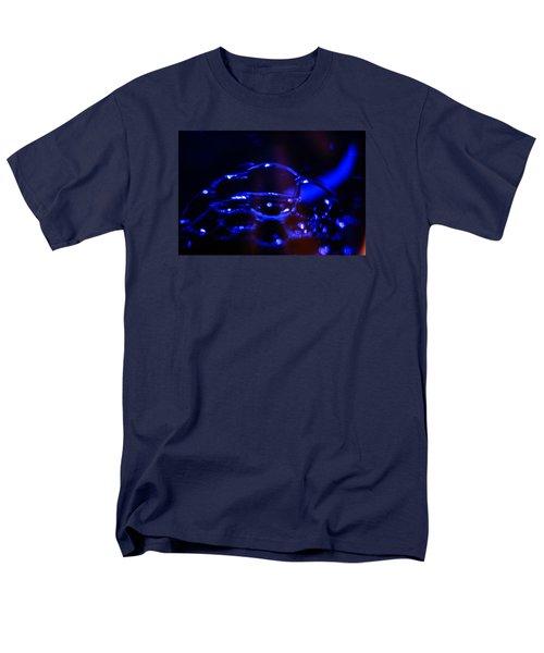 Men's T-Shirt  (Regular Fit) featuring the digital art Blue Bubbles by Jana Russon