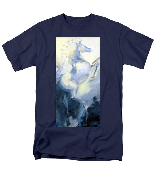 Men's T-Shirt  (Regular Fit) featuring the painting Blue Circus Pony 1 by Dina Dargo