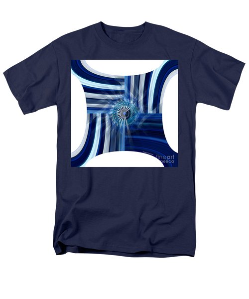 Blue Dimension  Men's T-Shirt  (Regular Fit) by Thibault Toussaint