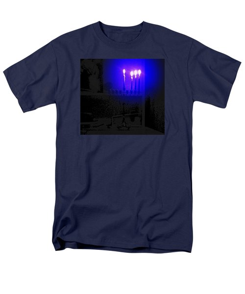 Blue Hanukkah On The Third Day Men's T-Shirt  (Regular Fit)