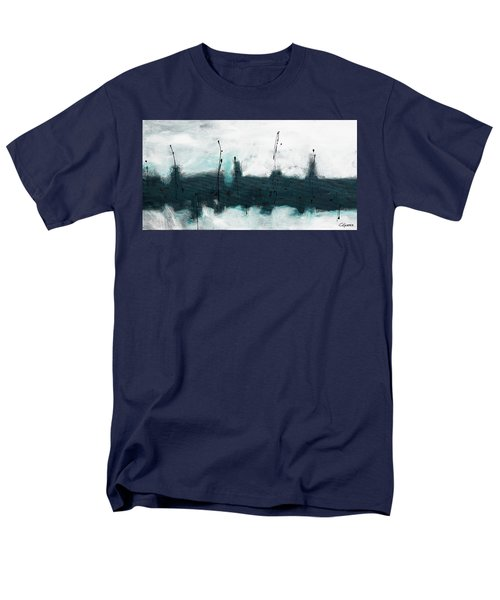 Men's T-Shirt  (Regular Fit) featuring the painting Blue Harbour by Carmen Guedez