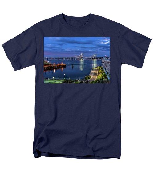 Blue Hour Over The Hudson Men's T-Shirt  (Regular Fit) by Jeffrey Friedkin