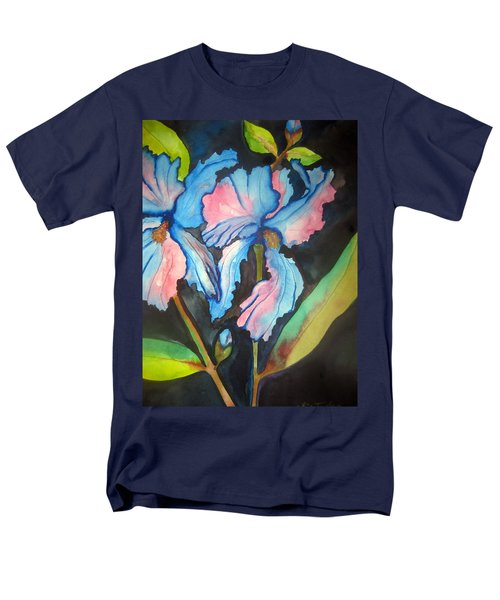 Men's T-Shirt  (Regular Fit) featuring the painting Blue Iris by Lil Taylor