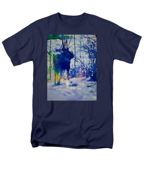 Blue Moose Men's T-Shirt  (Regular Fit) by Jan Amiss Photography