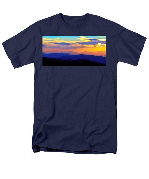 Blue Ridge Sunset, Virginia Men's T-Shirt  (Regular Fit) by The American Shutterbug Society