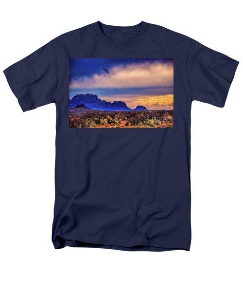 Blue Sunset Nm-az Men's T-Shirt  (Regular Fit) by Diana Mary Sharpton