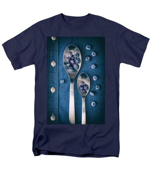 Blueberries On Denim I Men's T-Shirt  (Regular Fit) by Tom Mc Nemar