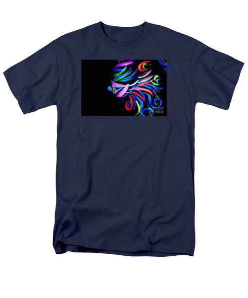 Men's T-Shirt  (Regular Fit) featuring the painting Body Art Breast by Tbone Oliver