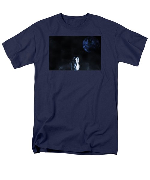 Borzoi Wolf-hound, Hunting Under A Full Moon Men's T-Shirt  (Regular Fit) by Christian Lagereek