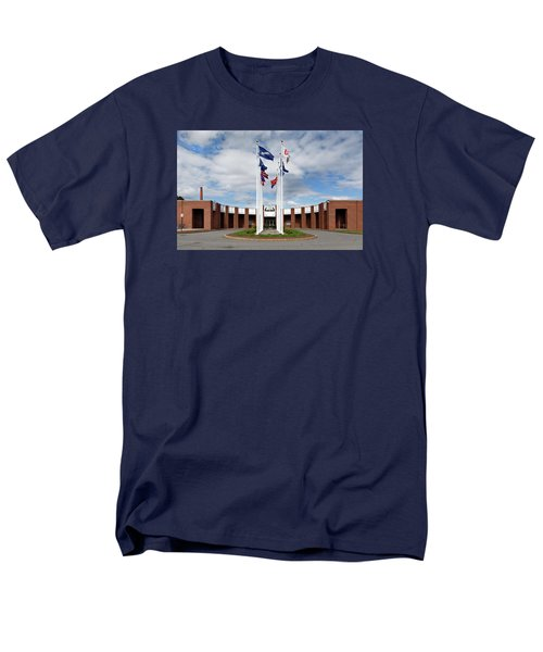 Men's T-Shirt  (Regular Fit) featuring the photograph Brandeis University Gosman Sports And Convocaton Center by Betty Denise