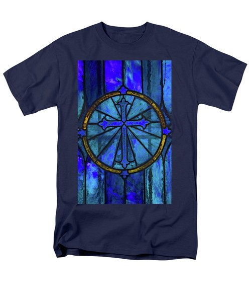 Brillant Blue Men's T-Shirt  (Regular Fit) by Rowana Ray