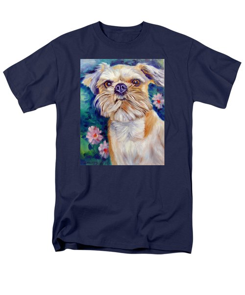 Brussels Griffon Men's T-Shirt  (Regular Fit) by Lyn Cook