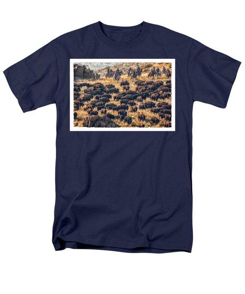 Buffalo Roundup Men's T-Shirt  (Regular Fit)