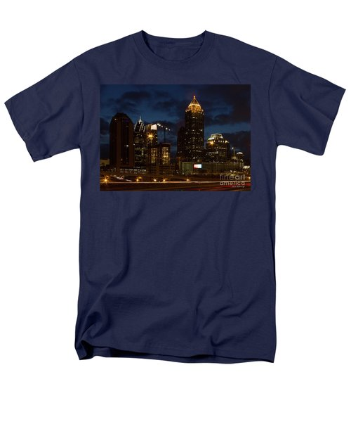 Men's T-Shirt  (Regular Fit) featuring the photograph Building Boom Midtown Atlanta Construction Art by Reid Callaway