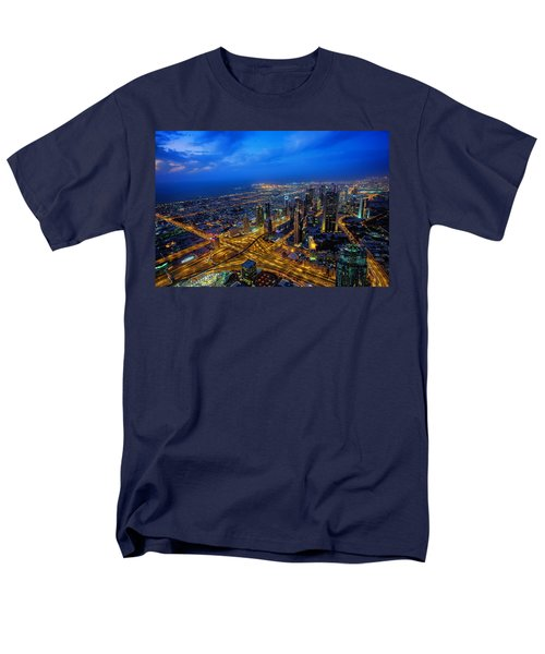 Burj Khalifa View Men's T-Shirt  (Regular Fit) by Ian Good