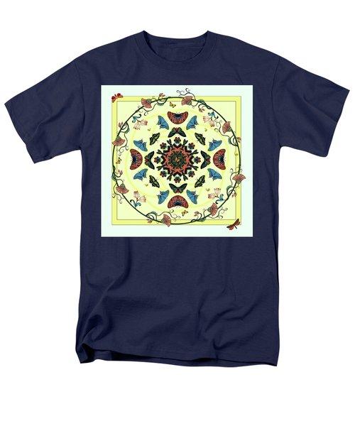 Men's T-Shirt  (Regular Fit) featuring the digital art Butterfly Garden Abstract by Deborah Smith