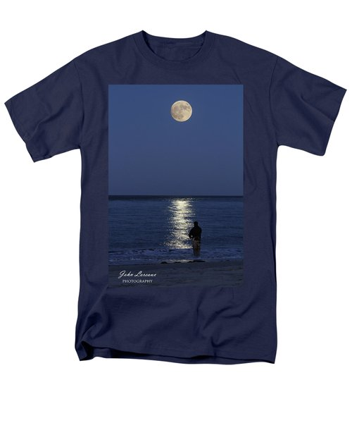 By The Light Of The Supermoon Men's T-Shirt  (Regular Fit) by John Loreaux