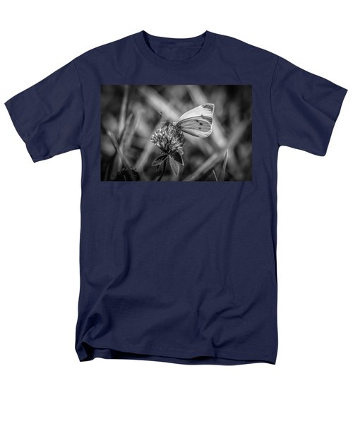 Cabbage White In Gray Men's T-Shirt  (Regular Fit) by Ray Congrove