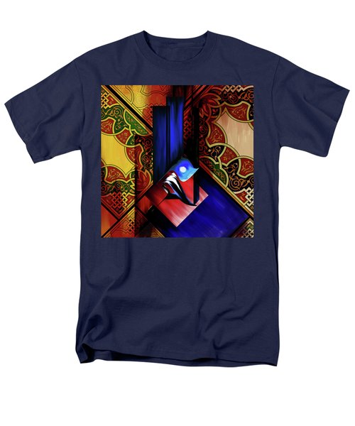 Men's T-Shirt  (Regular Fit) featuring the painting Calligraphy 102 1 1 by Mawra Tahreem