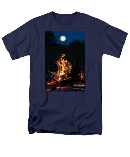 Camp Fire And Full Moon Men's T-Shirt  (Regular Fit) by Cheryl Baxter