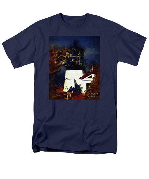 Men's T-Shirt  (Regular Fit) featuring the digital art Cape Meares Lighthouse In Gothic by Kirt Tisdale