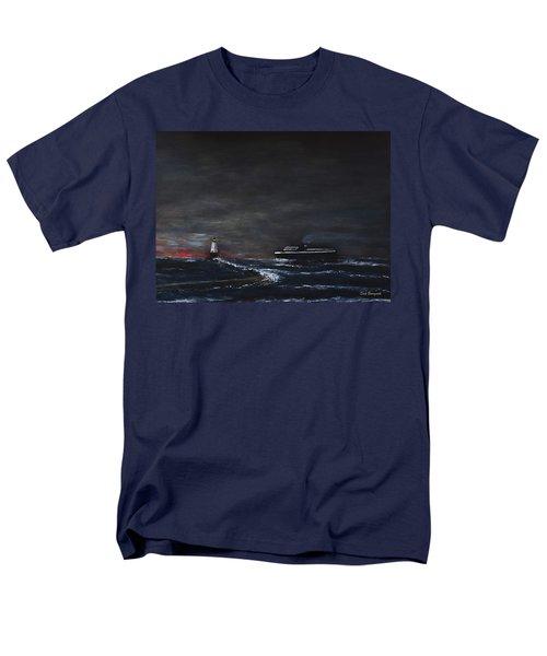 Car Ferry Badger November Crossing Men's T-Shirt  (Regular Fit) by Dick Bourgault